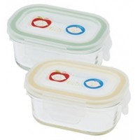 Keepin' Fresh Glass Baby Food Storage Container (2 Pack)