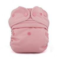 Baby Kangas One-Size Pouch Diaper with JamTots One-Size Organic Hemp Fleece 2-Layer Insert - Cotton Candy Pink