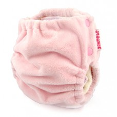 BerryPlush All-in-One Cloth Diaper with Bamboo Snap In Soaker - Pink